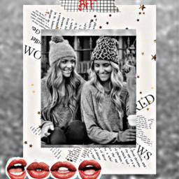 freetoedit remixed lips girls hats