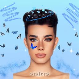 freetoedit jamescharles butterfly blue