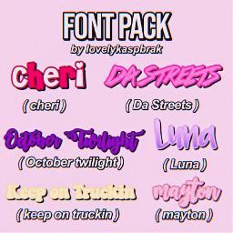 fonts font text fontpack textoverlay