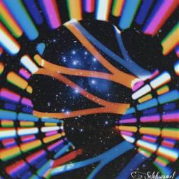 neon star nightstar neonlights girl freetoedit ircelegantsilhouette