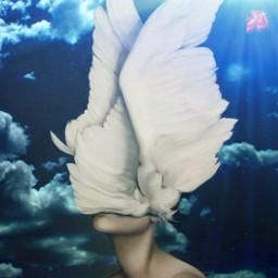 freetoedit angel wings cloud aesthetic