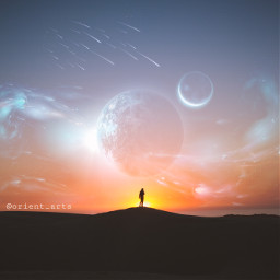 madewithpicsart imagination hill sunrise planet freetoedit