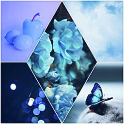 kolaż blue winter happynewyear2020 2020 ccblueaesthetic blueaesthetic
