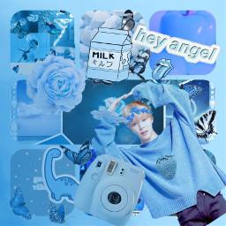 freetoedit blue aesthetic kawaii bts scrunchie ccblueaesthetic blueaesthetic