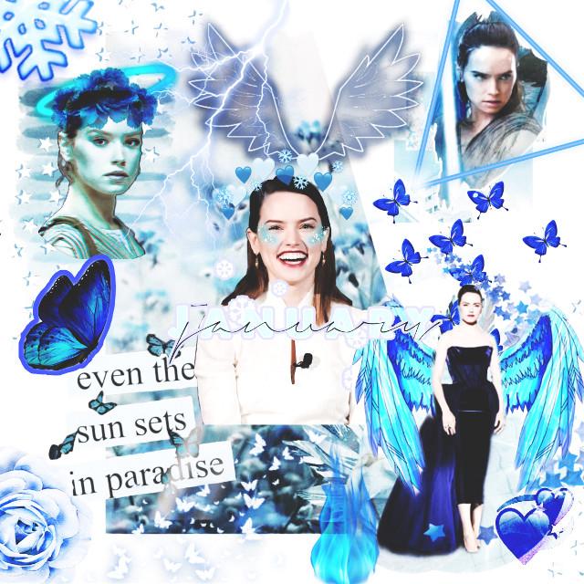 I love the colour blue 💙❄️💎😇  Tags: freetoedit #daisyridley #daisyridleyiseverything #rey #blue  #freetoedit