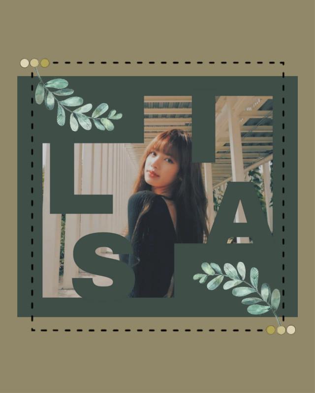 #freetoedit #lisa #blackpink #kpop #green #greenaesthetic