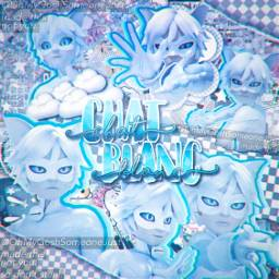 chatblanc chatnoir sad painful miraculous freetoedit