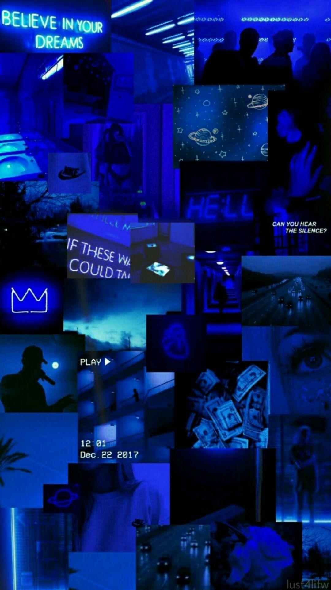 Collage Fondosdepantalla Wallpaper Azul Blueaesthetic