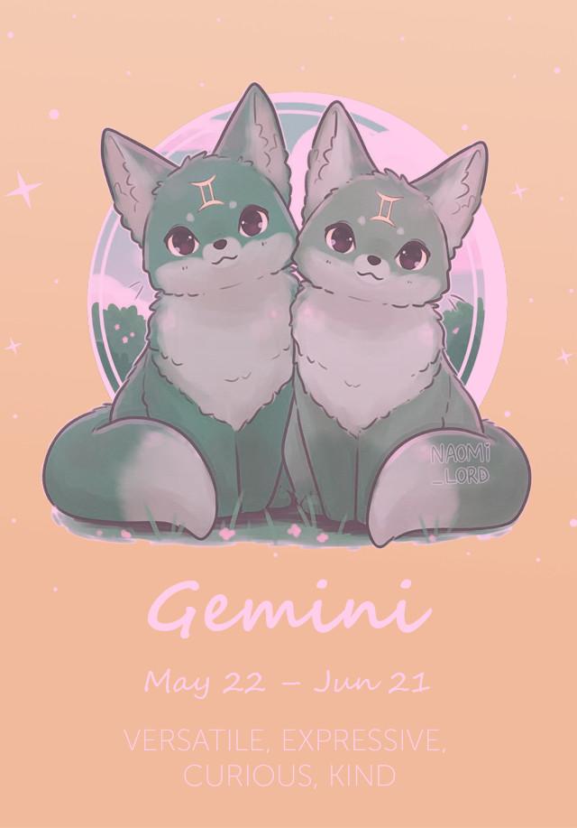 #freetoedit #gemini #gem #star #starsigns #twins #furry #animals #cute #sign #signs #zodiac #zodiacsigns #cute #animals