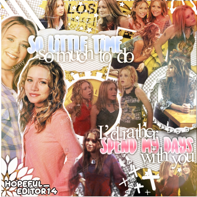#solittletime collage!  In case you dont know, which you probably don't, this was a show starring Mary-Kate and Ashley. Its pretty terrible, but i love it because i used to watch it when I was little! It came on a couple years before I was born, but I used to get the DVD's from the library. That was a lot of random information, but hey, my captions are usually short.     💜Taglist💜 (Comment 💜 to be added) @theshipshavesailed @ohmygoshsomeonejust @juleka3399 @jordynkarpoff5 @haley_potter @marinette_lady_bug @averyebaker   #solittletime #marykateandashley #marykateolsen #ashleyolsen #somuchtodo #stickers #complex #complexedit #yellow #colorful #sunlightmask #dreamymask #dustmask #hopefuleditor  #freetoedit