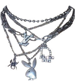necklace chains egirl 2000s asthetic freetoedit