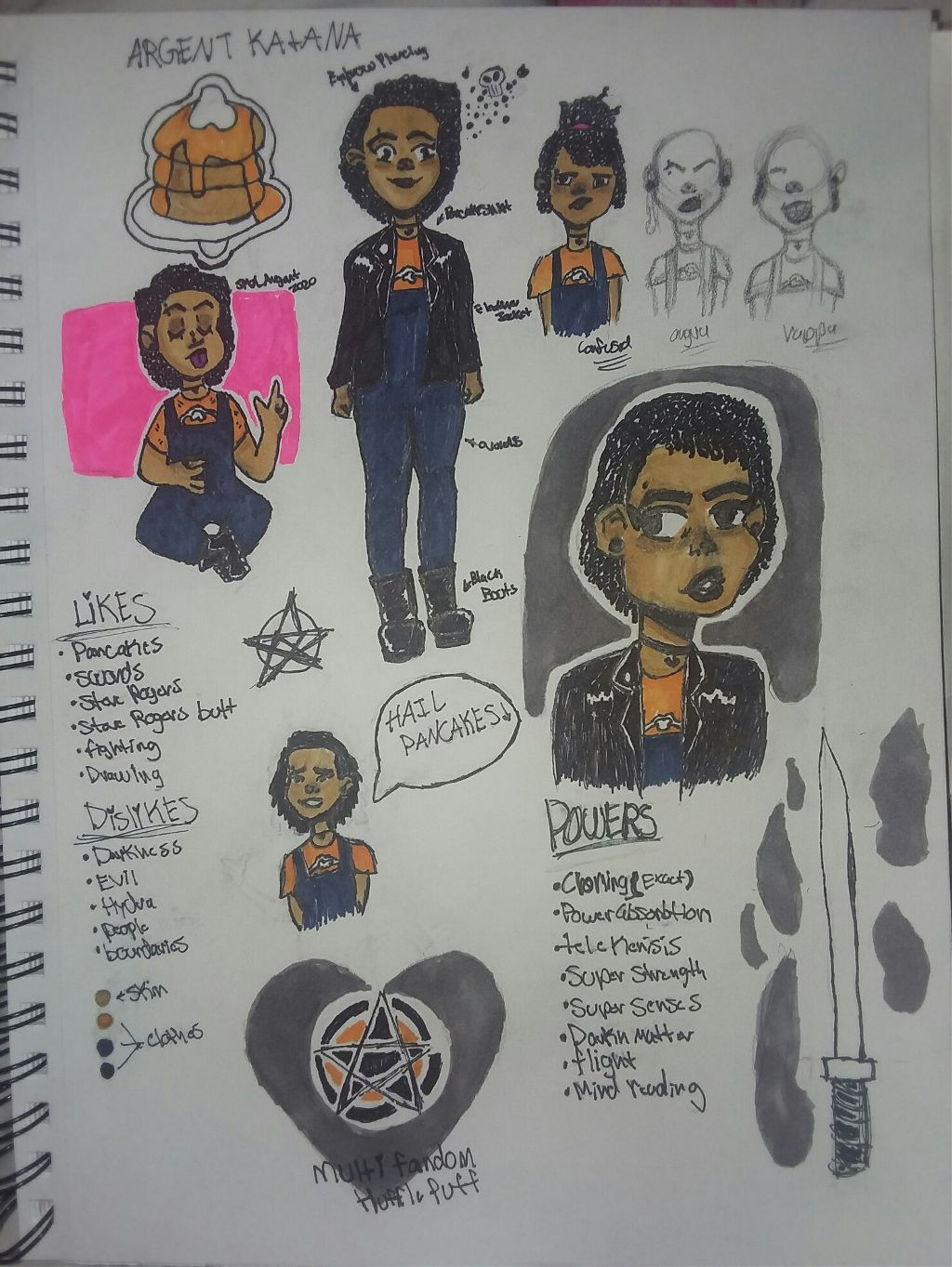 (( this is a character design and break down for Argent based off of my appearance hope you like it tell me what you think! ))    🥞Rp cakes🥞 @smol_loki_uwu  @smol_carol  @smol_gamora_uwu  @smol_lucas  @smol_mackenzie  @smol_sigyn  @ginny_holmes7777777