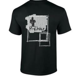 basictee shirtdesign cactus bw freetoedit