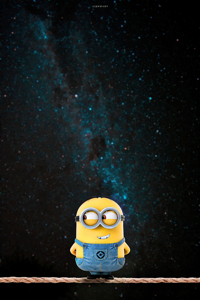 Minion here also🤦😂 Btw I am not a fan of minion    #siwap#minion#space#yellow#cartoon#rope#surreal#manipulation #freetoedit