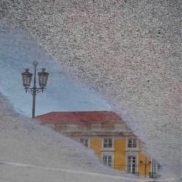 citywalk urbex puddle reflection upsidedown freetoedit