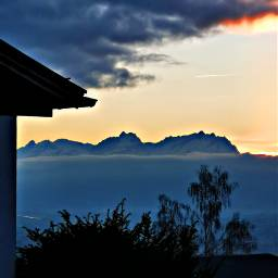 sunset landscape mountains orangesky freetoedit