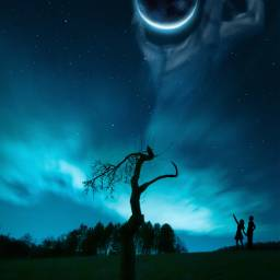 madewithpicsart imagination silhouette planet scary freetoedit