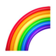 emoji emojiiphone rainbow arcoiris funny freetoedit