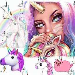 unicorn unicornio picsart freetoedit