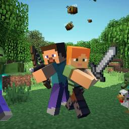 minecraft love play game bees freetoedit