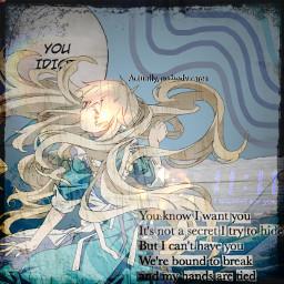 anime animegirl blue aesthetic blueaesthetic freetoedit