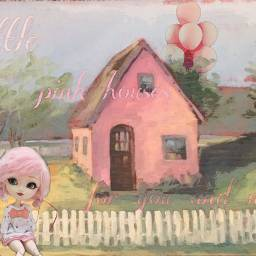 freetoedit pink pinkhouse aintthatamerica balloons