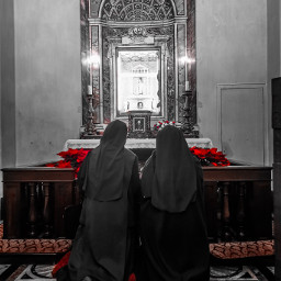 praying chapel religion rome red