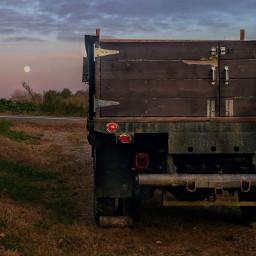 freetoedit myphoto moon sky truck