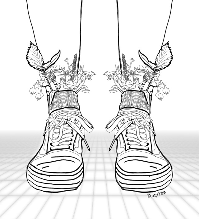 👉❤️👈 Thank you @picsart for the #feet challenge!!! 💋💯🤗🌿 #legs #sneakers #outline #outlinedrawing #linear #socks #flowers #outlineart #illustration #sketch #remixme #freetoedit #freeforbusiness