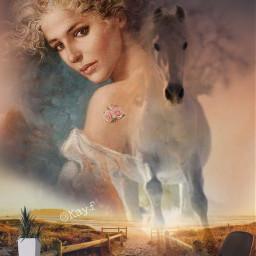 freetoedit caballo chicas woman mujerbonita
