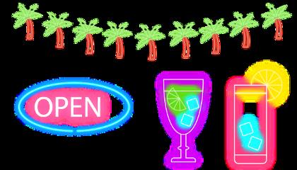 summer holiday vacation digital palm freetoedit