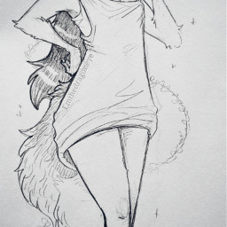 drawing fox anthro furry animal