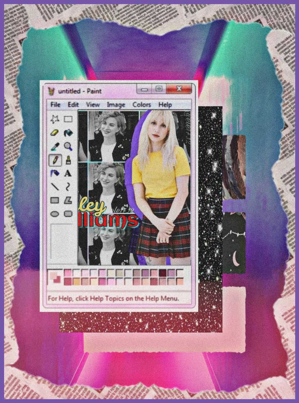 #freetoedit #paint #aesthetic #hayleywilliams #paramore #morado