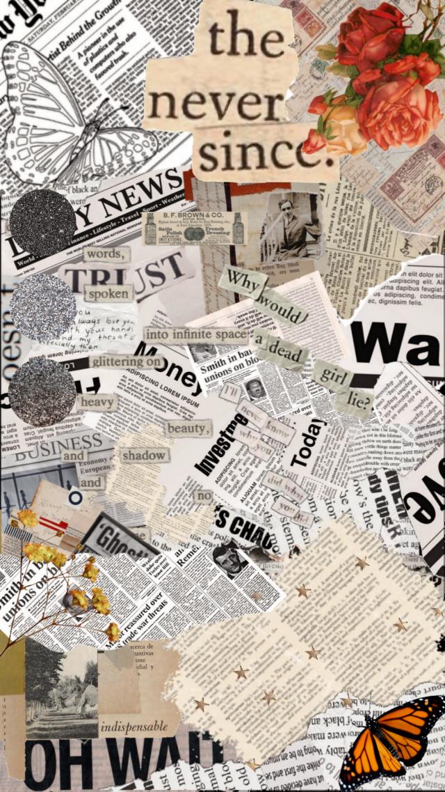 #freetoedit #collage #rose #vintage #newspaper #glitter #aesthetic #paper