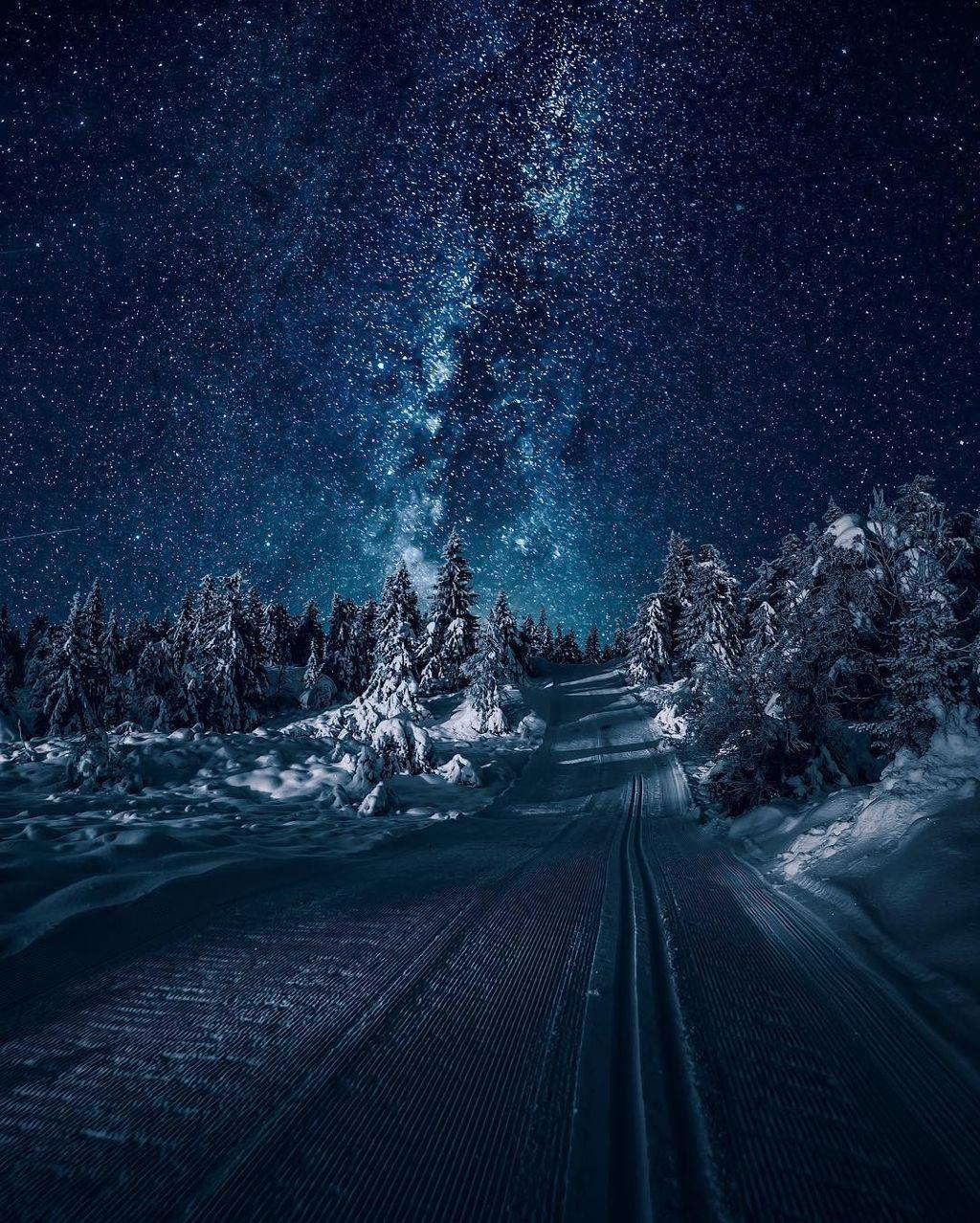 😍🥰😱🔷️🌎💦❄🌟⭐🌠📸 #blue #infinity #star #sky #road #curious #beautifulscenery #freetoedit #remixit #followme 🥰