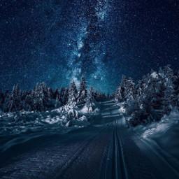 blue infinity star sky road freetoedit