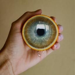 freetoedit edit surreal lemon eye