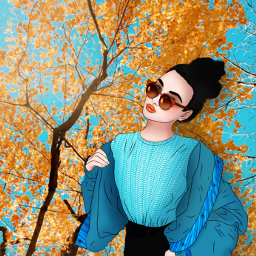 woman sunglasses blue yellow madewithpicsart freetoedit ircoutlineart outlineart