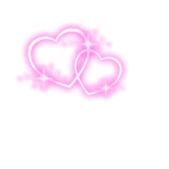 heart pink love neon glowing freetoedit