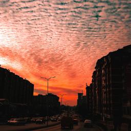 freetoedit sunset sky city pctheblueabove theblueabove