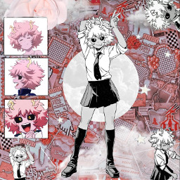 mina myheriacademia myheroacademina alien pinkaesthetic freetoedit