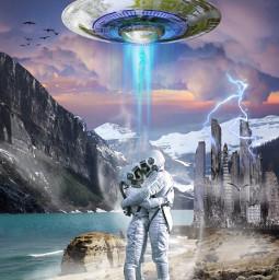 freetoedit love space background ufo