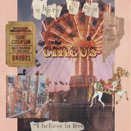 circus vintage collage carnival freetoedit