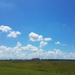 bluesky landscape field photograph clouds freetoedit pctheblueabove theblueabove