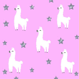 freetoedit llama mydrawing background sparkle