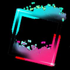 frame neon square romb smoke ftestickers freetoedit