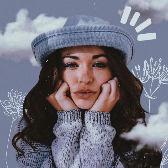 #freetoedit Edit for today 💙 #aesthetic #aesthetics #retro #vintage #blue #blueaesthetic #babyblue #pastel #blue #pastelblue #woman #pretty #model #clouds #cloud #doodle #doodles #flowers #plant #plants #flower #noise