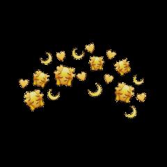 yellow mood emoji stickers hearts freetoedit
