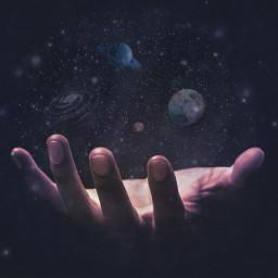 freetoedit galaxy universe hand planets ircuniverseinyourhand universeinyourhand