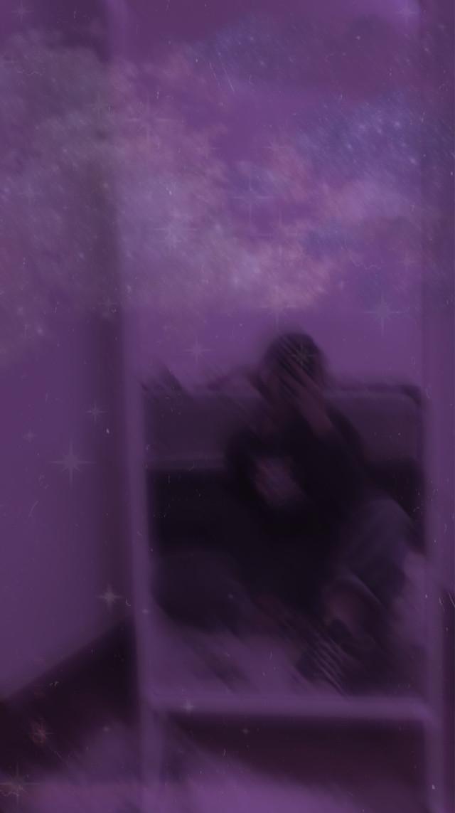 hello . . #freetoedit #purple #mirror #clouds #purpleclouds #stars #film #grain #california #sandiego #💜